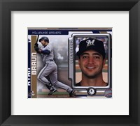 Framed Ryan Braun 2010 Studio Plus