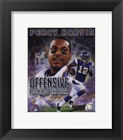 Framed Percy Harvin Offensive Rookie Of The Year Composite