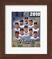 Framed 2010 San Diego Padres Team Composite