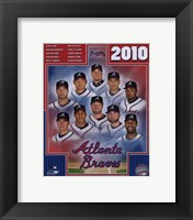 Framed 2010 Atlanta Braves Team Composite