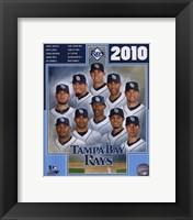 Framed 2010 Tampa Bay Rays Team Composite
