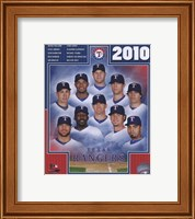 Framed 2010 Texas Rangers Team Composite