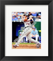 Framed Miguel Cabrera 2010 Action