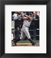 Framed Jim Thome 2010 baseball