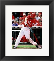 Framed Joey Votto 2010 Action