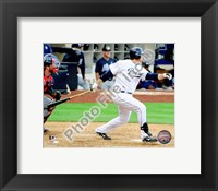Framed Adrian Gonzalez 2010 Action On The Field