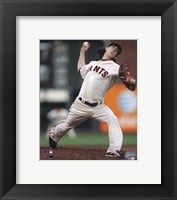 Framed Tim Lincecum 2010 Action