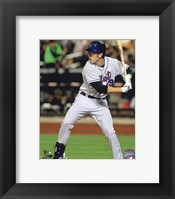 Framed Ike Davis 2010 Action Hitting