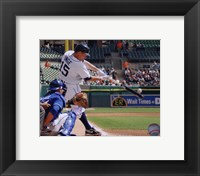 Framed Brandon Inge 2010 hitting the ball