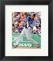 Framed Carl Crawford 2010 Action Hitting