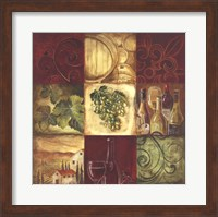 Framed Tuscan Wine I