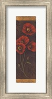 Framed Red Poppy Panel II - mini
