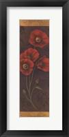 Red Poppy Panel II - mini Framed Print