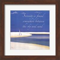Framed Serenity Sentiment