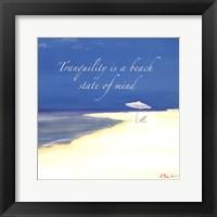 Tranquility Sentiment Framed Print