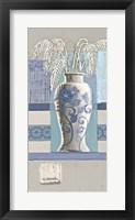 Framed Blue Asian Collage II