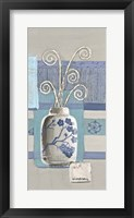 Framed Blue Asian Collage III