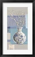 Framed Blue Asian Collage IV