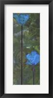 Framed Teal Poppies III