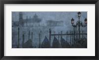 Framed Blue Canal I