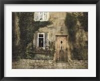 Framed English Cottage III