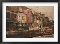 Framed Burano Canal II