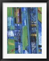 Framed Blue on Blue I
