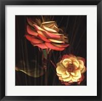 Framed Red Floral Garden I