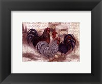 Framed Rooster Trinity
