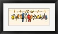 Framed Bird Menagerie II