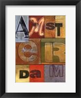 Framed Amsterdam