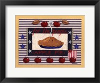 Americanna Apple Pie Framed Print