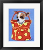 Framed Chihuahua Dots