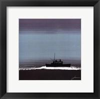 Dusky Sea III Framed Print
