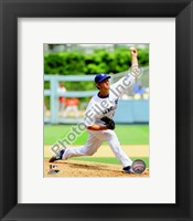 Framed Clayton Kershaw 2010 Action