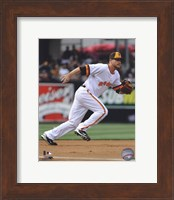 Framed Chase Headley 2010 Fielding Action