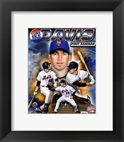Framed Ike Davis 2010 Portrait Plus