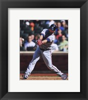 Framed Brian McCann 2010 Batting Action