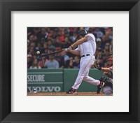 Framed Kevin Youkilis 2010 Batting Action