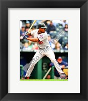 Framed Delmon Young 2010 Action