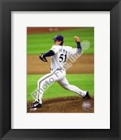 Framed Trevor Hoffman 2010 Milwaukee Brewers