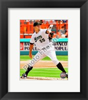 Framed Josh Johnson 2010 Action On The Field