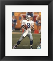 Framed Troy Aikman Action