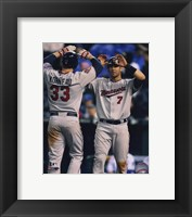 Framed Joe Mauer & Justin Morneau 2010 Action