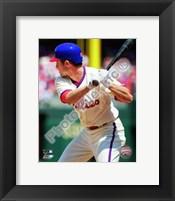 Framed Chase Utley batting in 2010