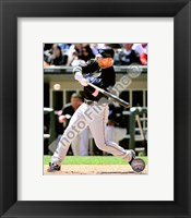 Framed Adam Lind batting 2010 Action