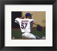 Framed Johan Santana 2010 Action