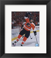 Framed Danny Briere 2009-10 Playoff Action