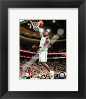 Framed Kevin Garnett 2009-10 Playoff Action