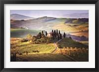 Framed Belvedere Sunrise Tuscany